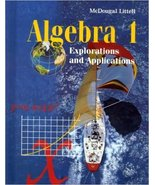 algebra 1  explorations and  applications - $1.00