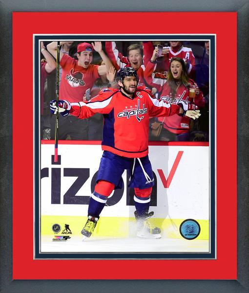 Alex Ovechkin Celebrates His 1000th Career NHL Point-11x14 Matted/Framed Photo