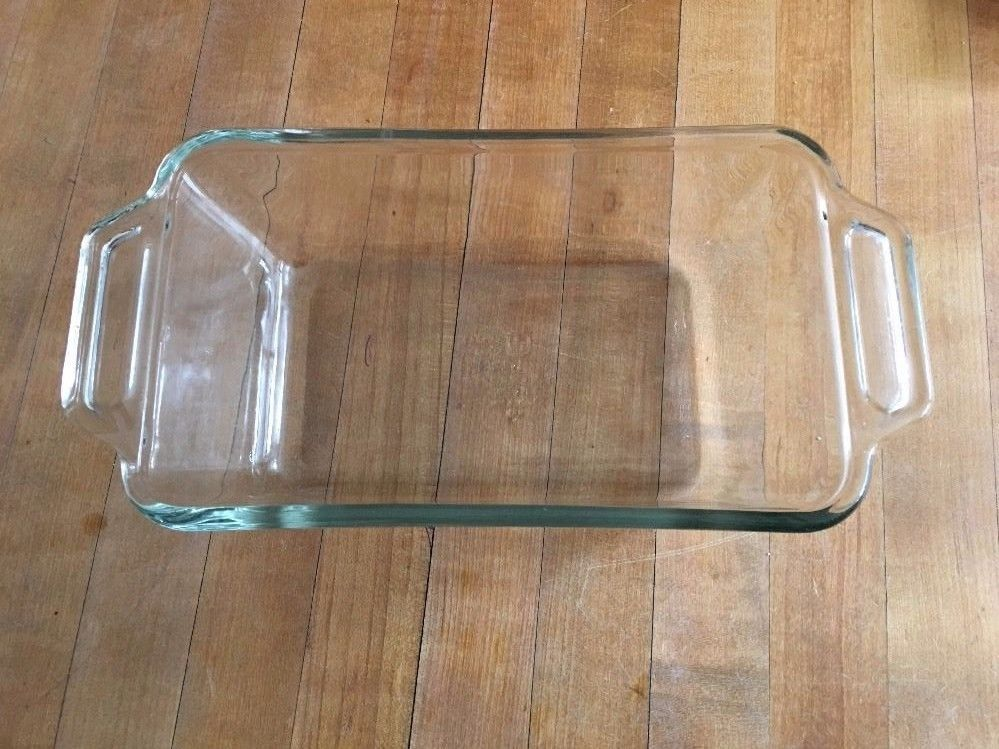 Anchor Ovenware Clear Loaf Bread Pan Meatloaf Baking Dish 1.5 Quart