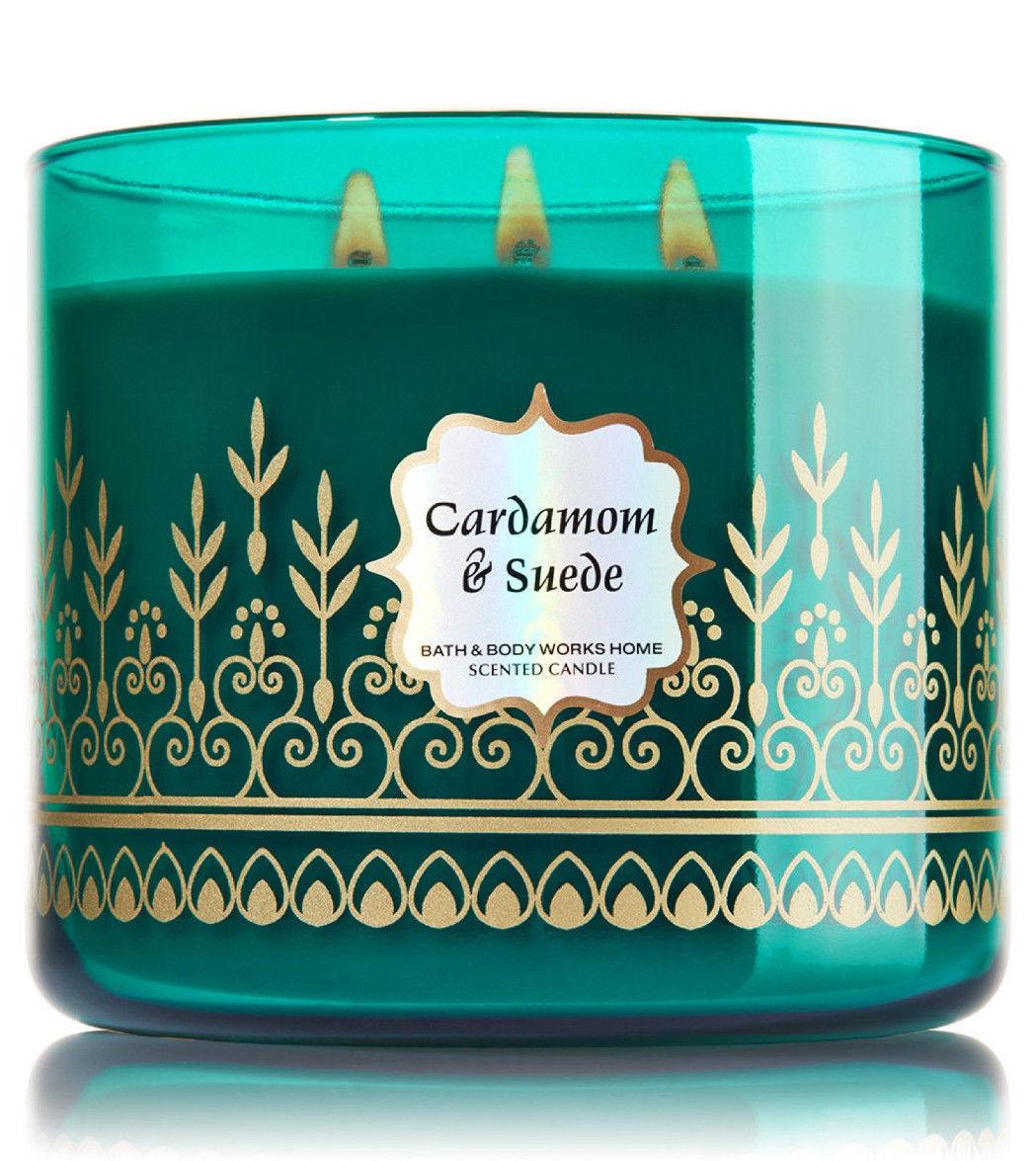 Bath & Body Works CARDAMOM & SUEDE Scented Candle, 14.5 oz/ 411 g