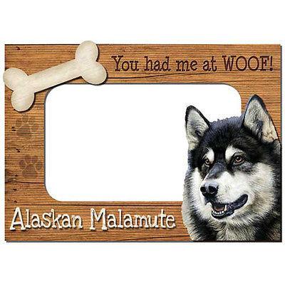 Alaskan Malamute 3-D Wood Photo Frame