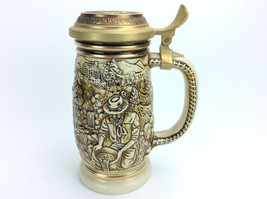 Avon 1987 The Gold Rush Lidded Beer Stein Lid Decorated w/ 22k Gold - Ne... - $19.99