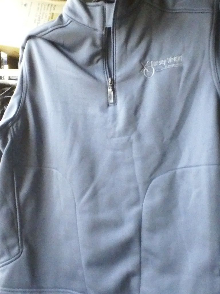 CALLAWAY GOLF 1/4 ZIPPER JACKET gray euc LARGE - XL