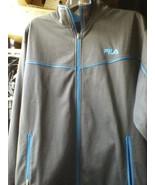 Filas 100% POLYESTER gray turquoise size XL FULL ZIPPER JACKET 2 ZIPPERE... - $23.00