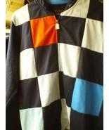 BEN SHERMAN TRACK BLUE MULTI-COLOR LARGE JACKET FULL ZIPPER 100% COTTON - $26.74