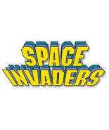Space Invaders shaped vinyl sticker 150mmx65mm vintage classic console A... - $3.45