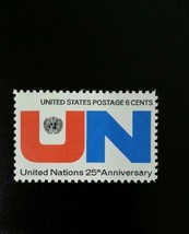 1970 6c United Nations, 25th Anniversary Scott 1419 Mint F/VF NH - $0.99
