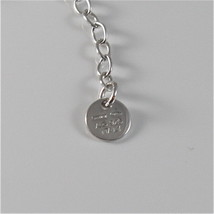 925 RHODIUM SILVER JACK&CO NECKLACE WITH 9KT ROSE GOLD LOVE HEART MADE IN ITALY image 5