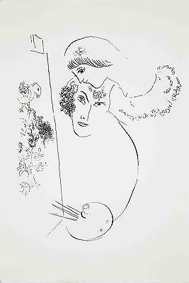 Marc Chagall-Artist and Lover-1979 Serigraph