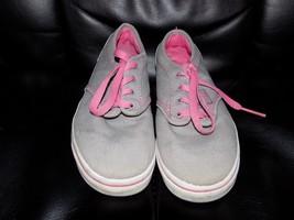 Vans Gray/Pink 2013 Size 1.5 Girl's EUC  - $39.99