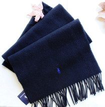 authentic RALPH LAUREN scarf LAMBSWOOL black PONY new with all tags - $39.99