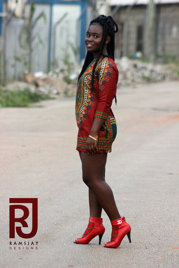 Women's Dashiki Sheath Dress Women's African Clothing Women's outfit Women Wear