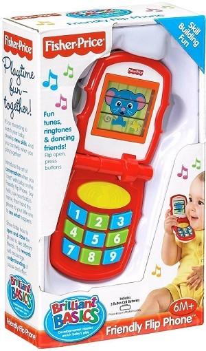 Fisher price brilliant basics friendly flip phone