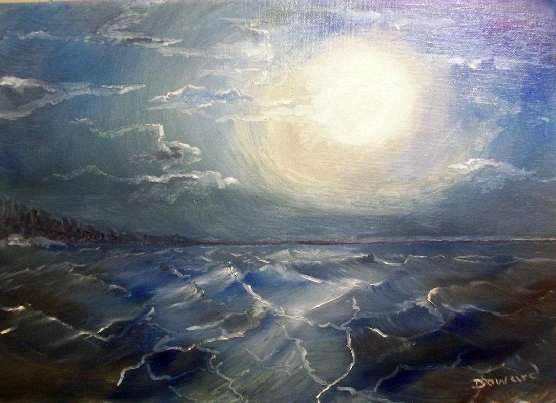 Original 8x10 Seascape Canvas Wall Art Print #0010:- rdoward fine art