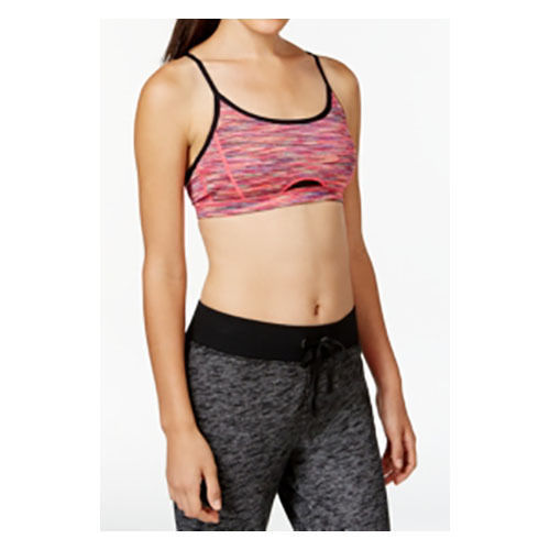 Ideology Mesh Inset Space-Dyed Sports Bra, MultiColor, Sz. Small