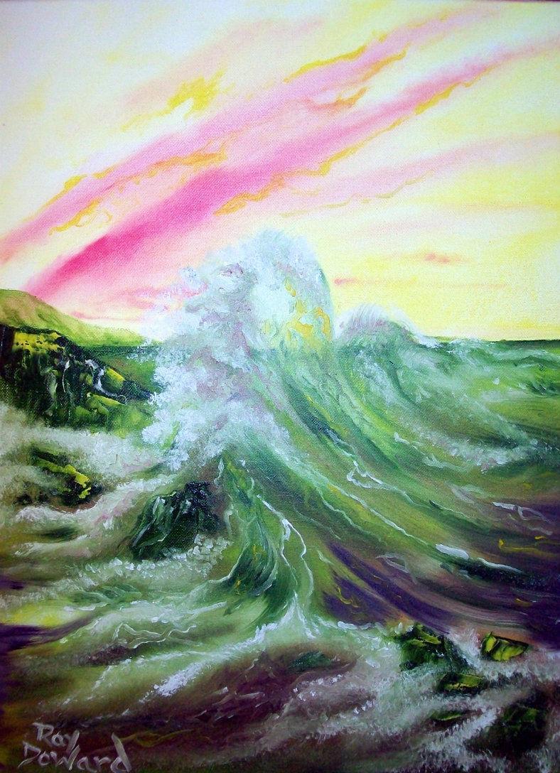 Original 8x10 Seascape Canvas Wall Art Print #0011:- rdoward fine art