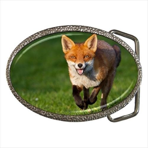Red Fox Chrome Finished Belt Buckle
