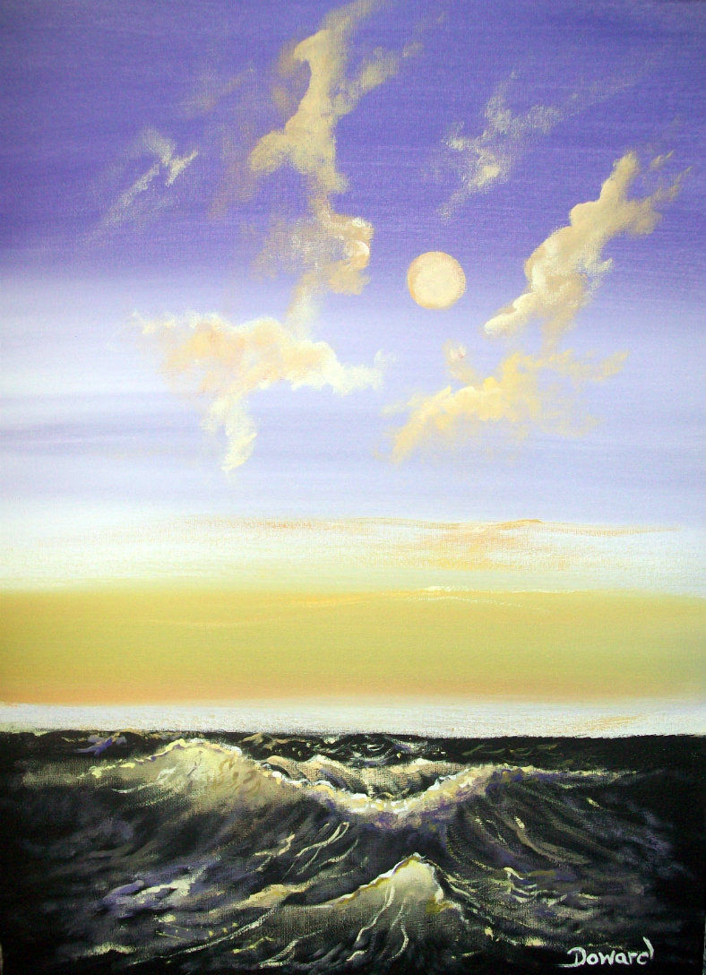 Original 8x10 Seascape Canvas Wall Art Print #0012:- rdoward fine art