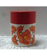 Vintage Vibrant Orange Flower Tin Canister / Coffee/Tea Canister / Retro... - $5.25