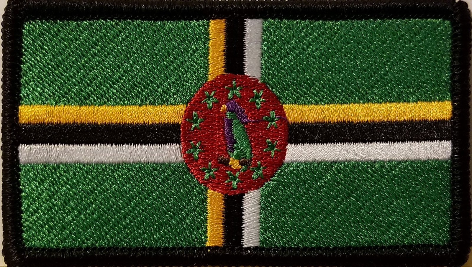 "[Single Count] Custom and Unique (3 1/2 "" x 2 "" Inches) DOMINICA FLAG Rectang..."