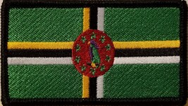 """[Single Count] Custom and Unique (3 1/2 """" x 2 """" Inches) DOMINICA FLAG Rectang... - $5.93"""