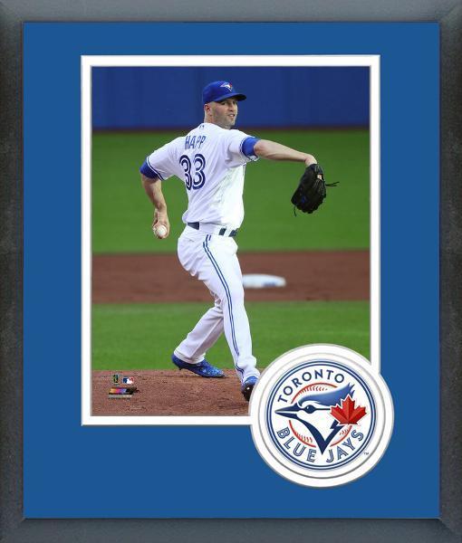 J.A. Happ 2016 Toronto Blue Jays Pitcher -11x14 Team Logo Matted/Framed Photo
