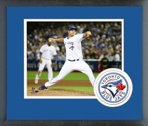 Joe Biagini Toronto Blue Jays 2016 Action- 11x14 Team Logo Matted/Framed Photo