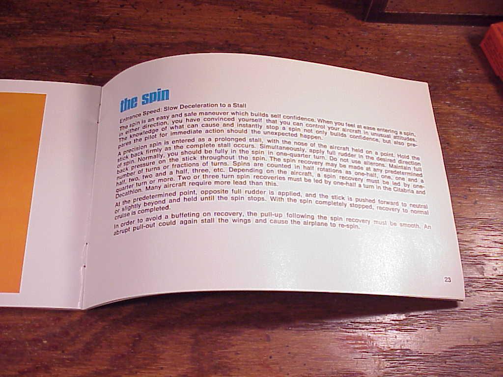 1980's Bellanca Air Airplane Aerobatics Booklet