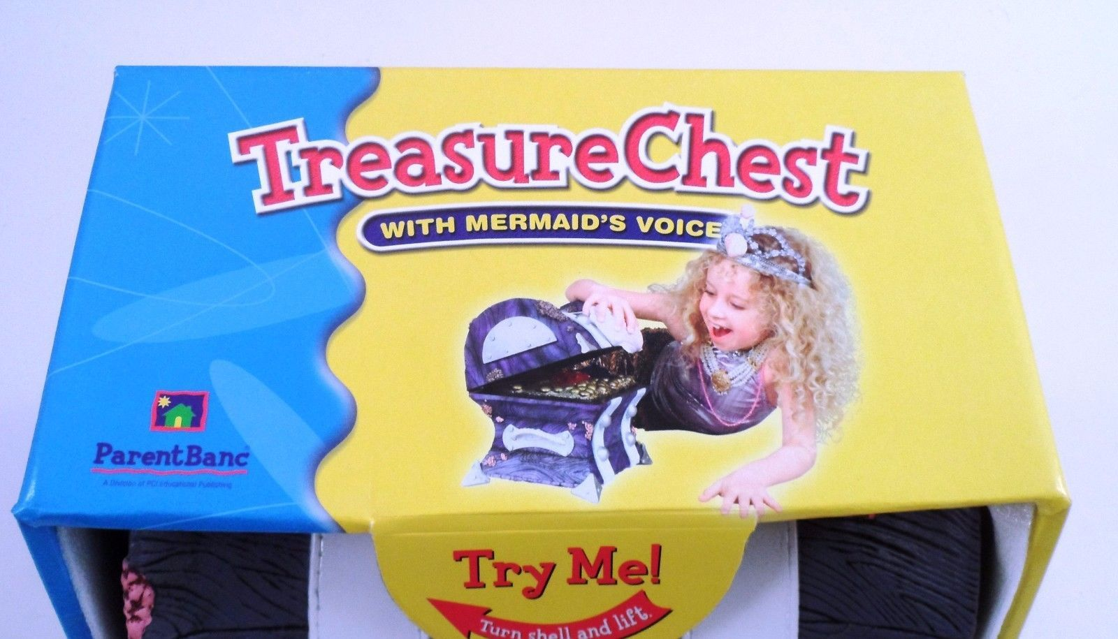 MIB 2001 ParentBanc Talking Little Mermaid Hidden Treasure Chest Box Bank WORKS