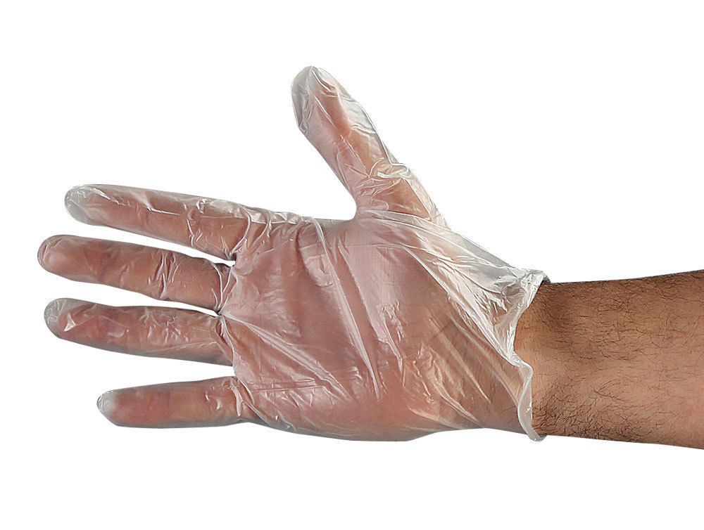 4.5 Mil Vinyl Disposable Gloves, Lightly Powdered,  Case of 1,000