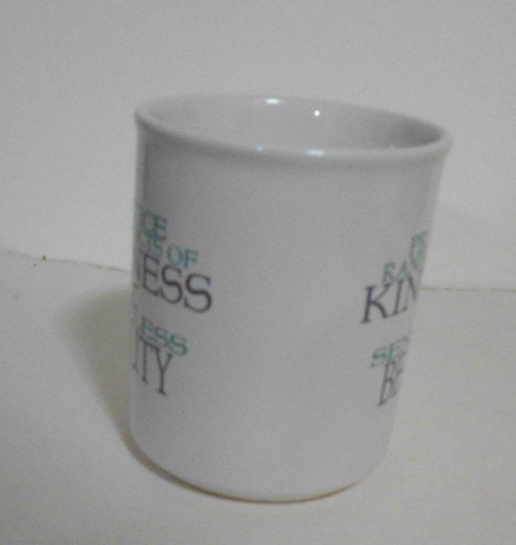 Practice Random Acts of Kindness & Senseless Beauty White Ceramic Mug  8 oz