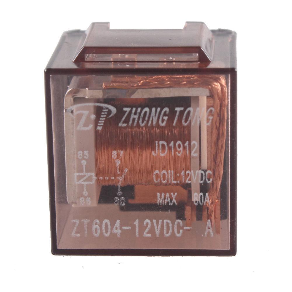 5Pcs Car Automotive Truck 12V 12 Volt DC 80A AMP SPST Transparent Relay 4P Sales