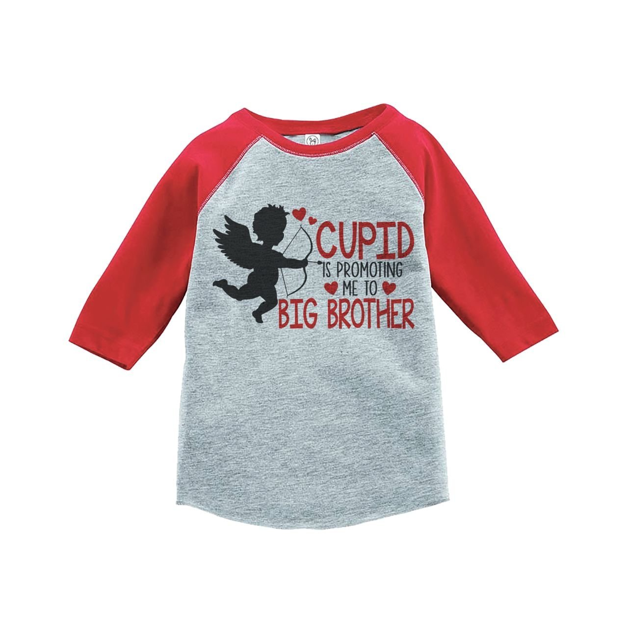 Custom Party Shop Boy's Big Brother To Be Valentine's T-shirt 2T Red Raglan