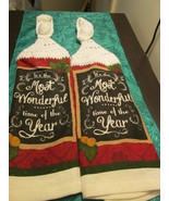 Handmade Crocheted Top Hanging Kitchen Towels M... - $5.99