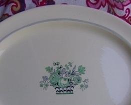 1930s Vellum Booths Ltd China Large Oval Platter