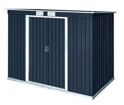 DuraMax 8x4 Pent Roof Metal Shed Kit w/ Vents (50651) - $429.99