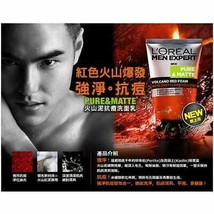 L'OREAL Men Expert Pure  Matte Vocano Red Foam Acne Deep Clear solution 100ml - $8.70