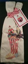 Mary Lake-Thompson Towel Set Christmas Stocking with Toys Black Cat NWT  - $19.78