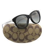 New Coach Sunglasses Women Cat eye HC 8064F Black 5002/11 Audrey 54mm - $103.95