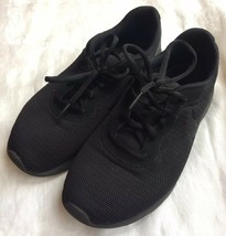 Nike Boy's Tanjun Running Sneakers From Finish Line Sz 7Y Solid Black - $20.57
