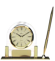 Desk Clock and Pen Set with Free Engraving - $29.95