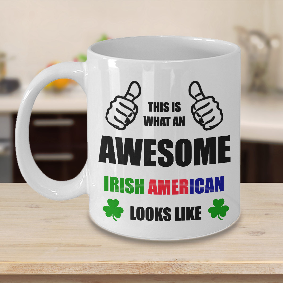 Personalized Color Changing Coffee Mug Gift For Irish American Him Her Men Women