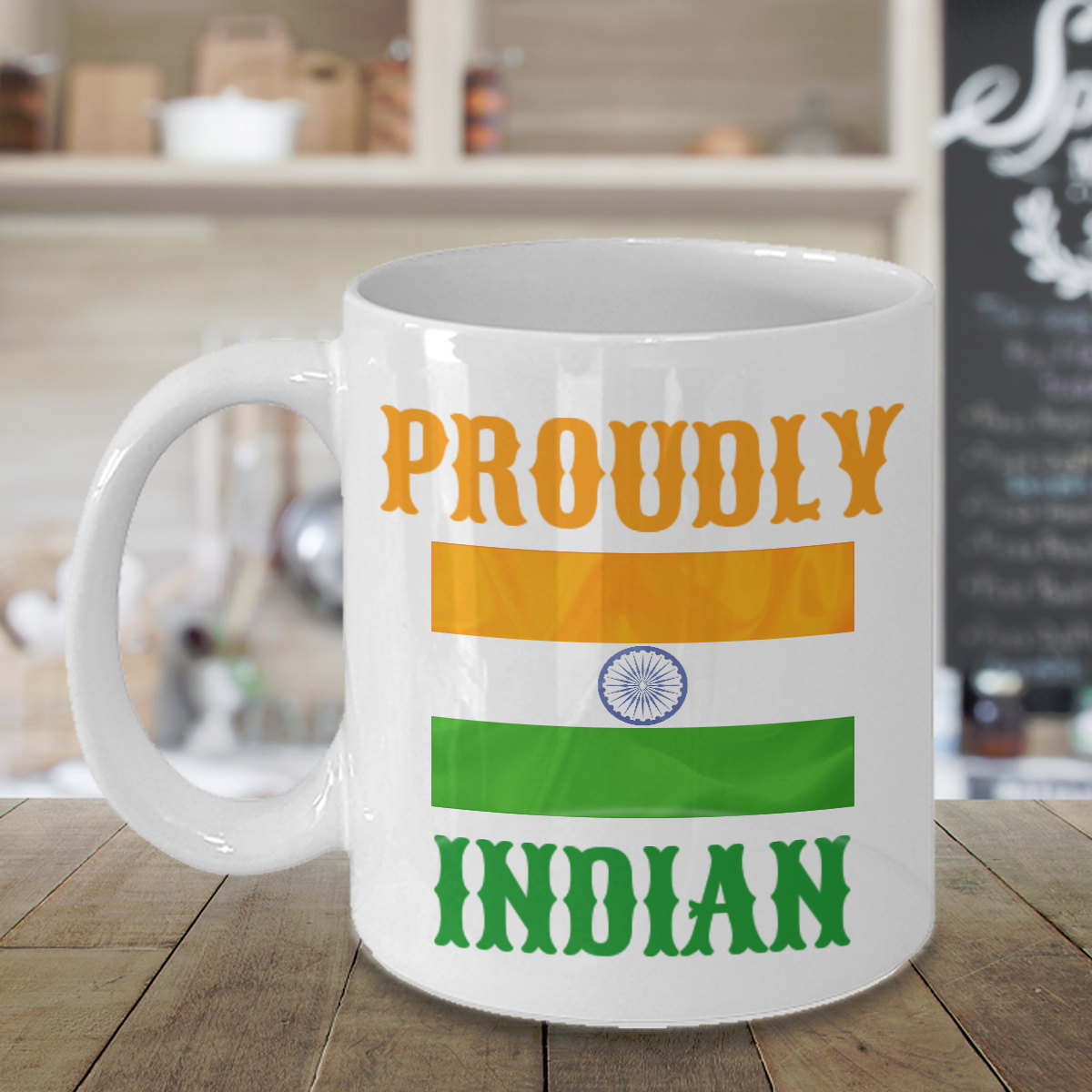 Proudly Indian Personalized Mug Birthday Gift For Coffee Lover Him Her Men Women