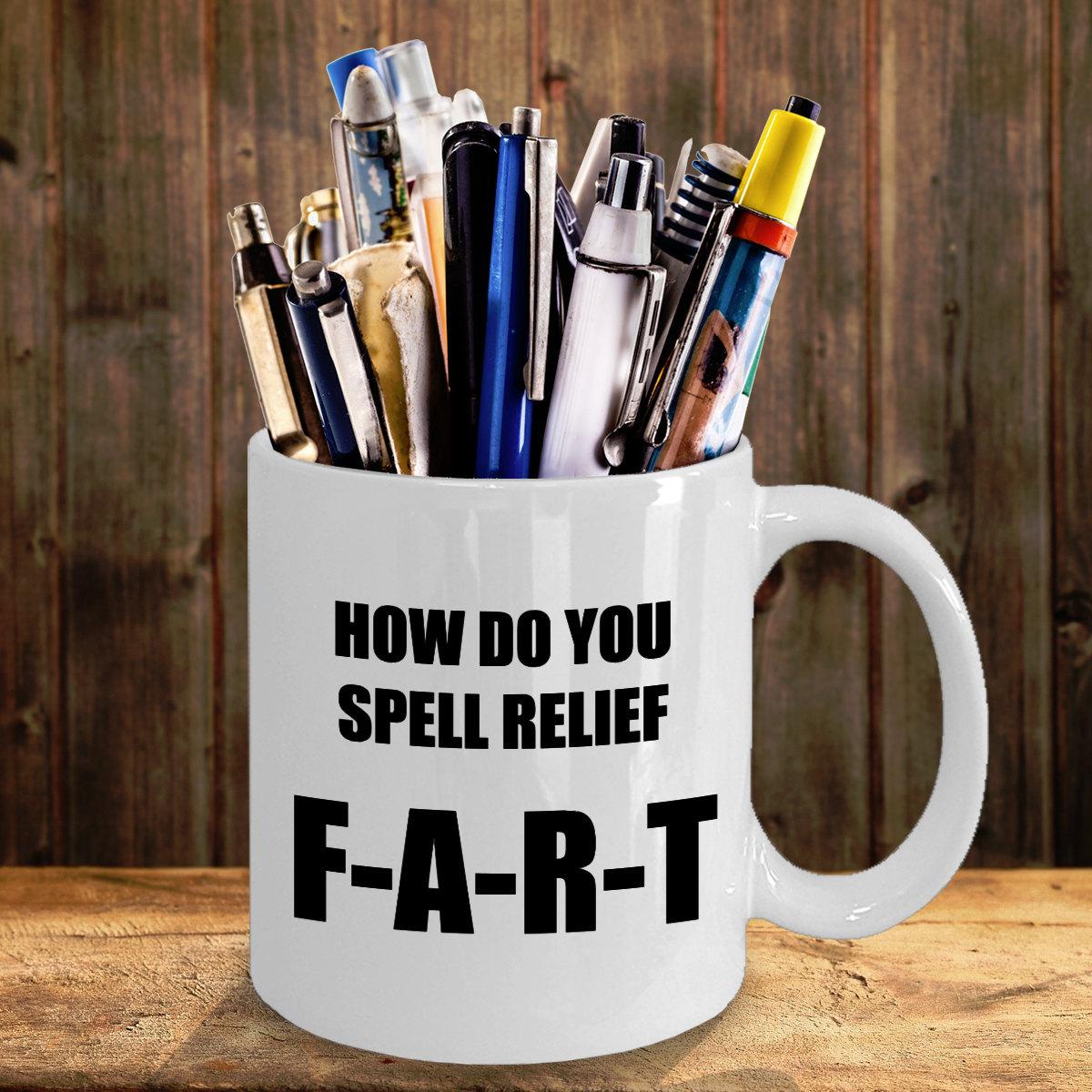 Funny Fart Coffee Mug Birthday Personalized Gift For Him Her Men Women Dad Mom F