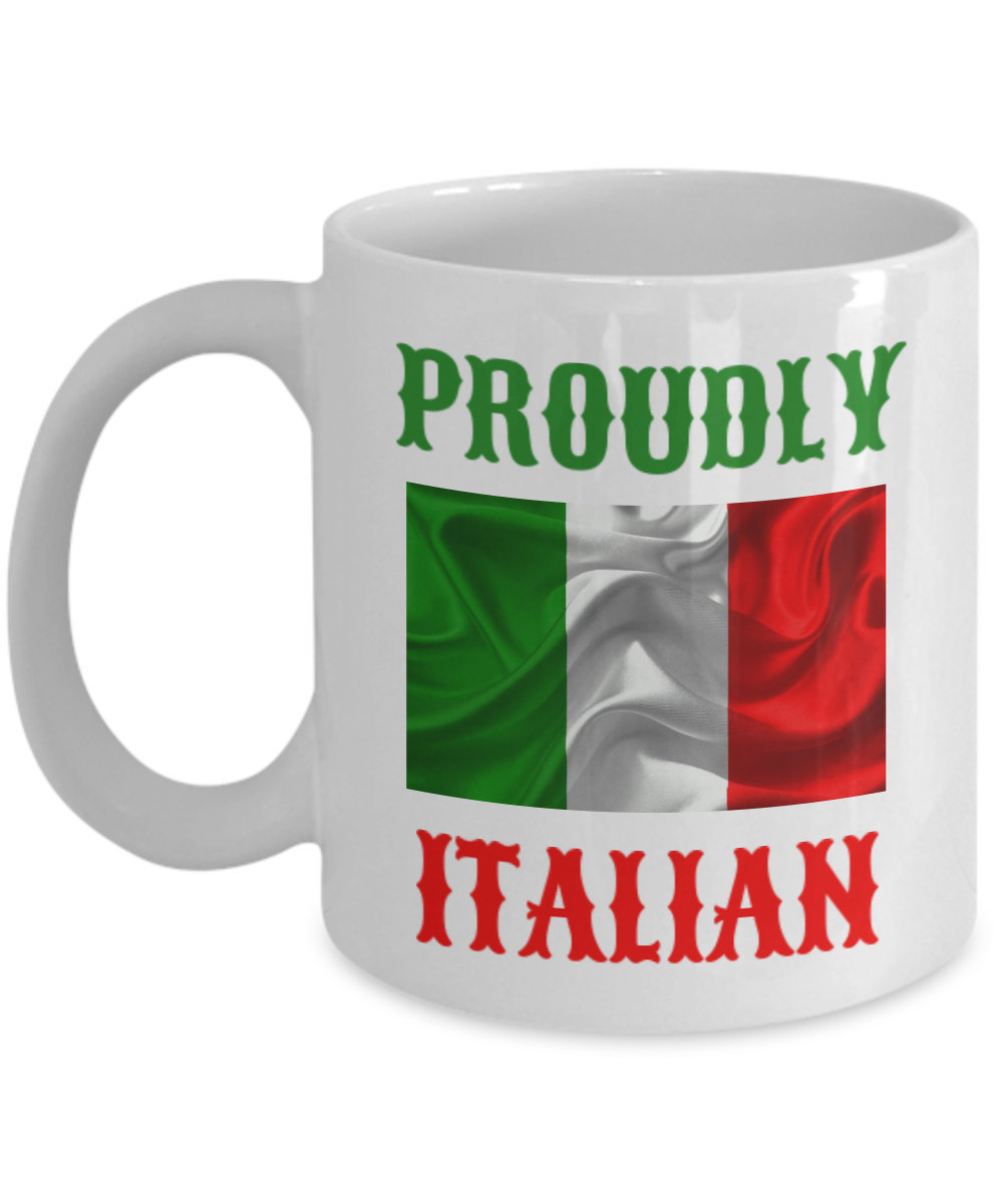 Proudly Italian Personalized Mug Birthday Gift For Coffee Lover Him Her Men Wome