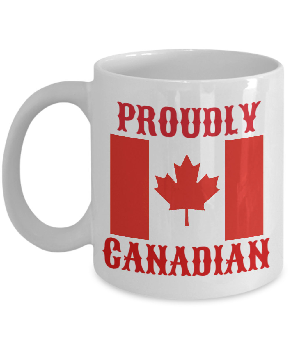 Proudly Canadian Personalized Mug Birthday Gift For Coffee Lover Him Her Men Wom