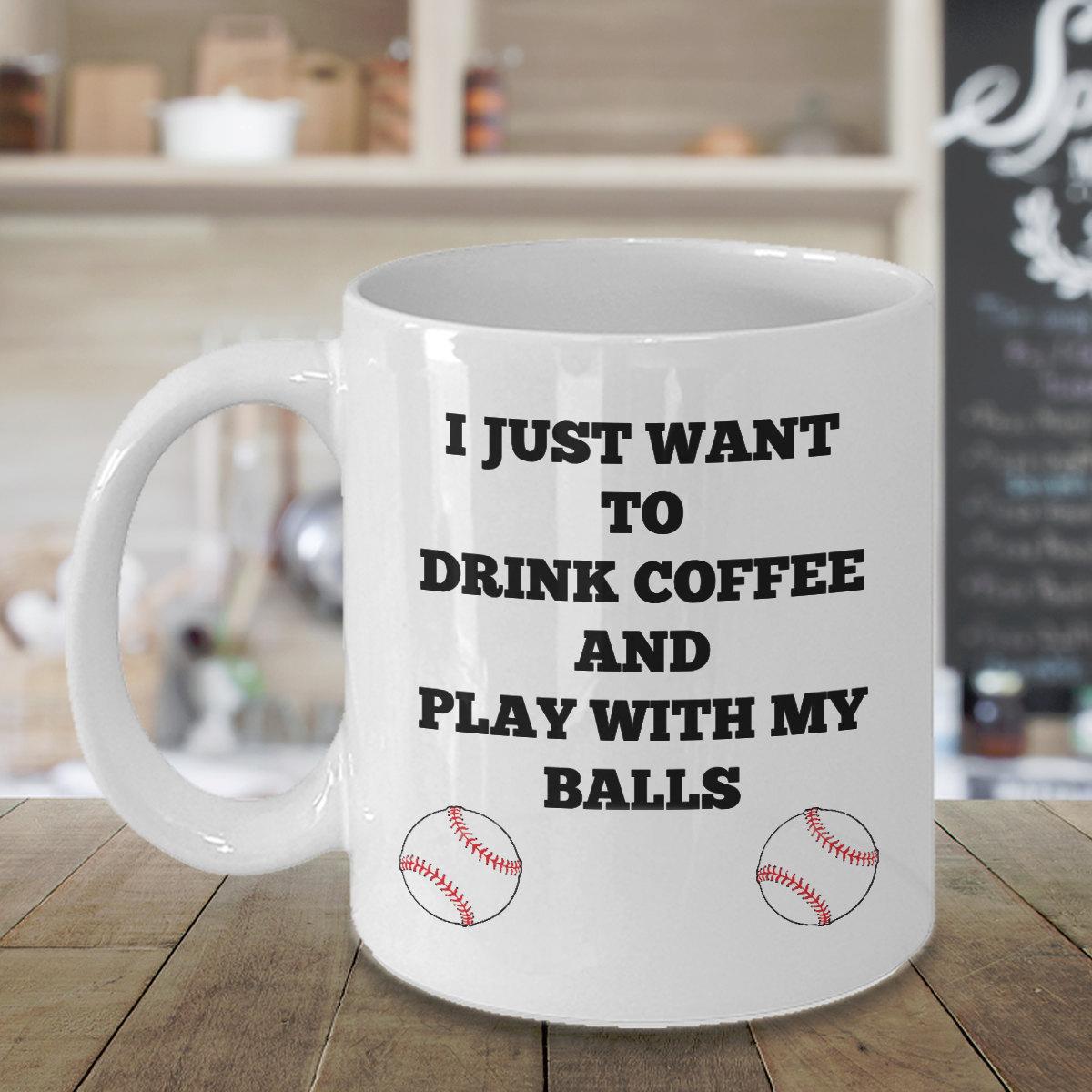 Funny Baseball Coffee Mug Gift Sport Fan Gifts For Him Men Dad Mom Father Grandf