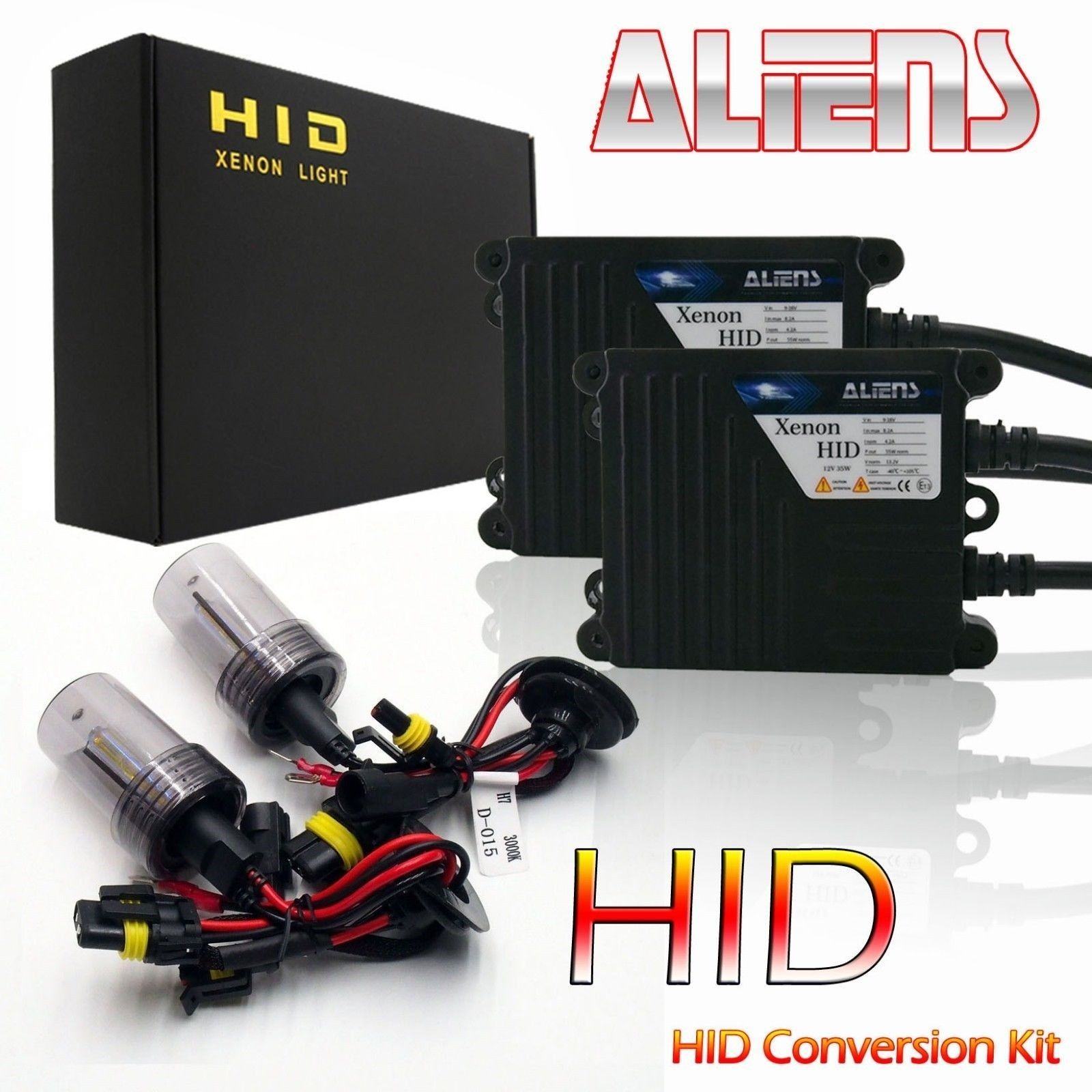 Aliens 9006 HID Replacement Headlight Bulbs Conversion Kit 10000K Deep Blue (C)