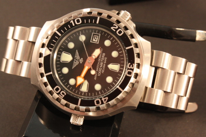 Military diver watch for professionals Seiko VX Heliumventil 100ATM German Army