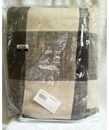 Pottery Barn BRYCE BUFFALO CHECK Duvet Cover KING/CALKING CHARCOAL NWOT ... - $149.00